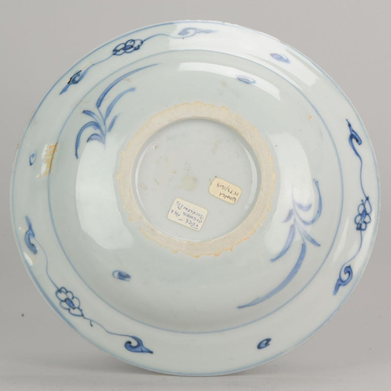 Antique Chinese Porcelain Plate 17th Century Ming Dynasty Wanli Period For Sale 10