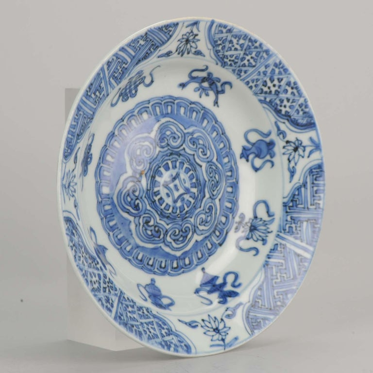 Antique Chinese Porcelain Plate 17th Century Ming Dynasty Wanli Period For Sale 12