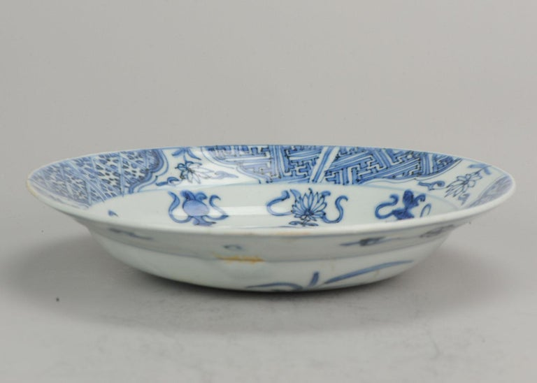 Antique Chinese Porcelain Plate 17th Century Ming Dynasty Wanli Period For Sale 13
