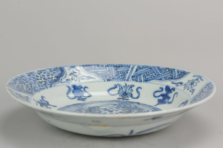 Antique Chinese Porcelain Plate 17th Century Ming Dynasty Wanli Period For Sale 14