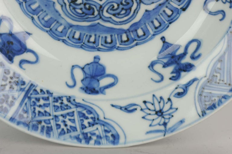Antique Chinese Porcelain Plate 17th Century Ming Dynasty Wanli Period For Sale 1