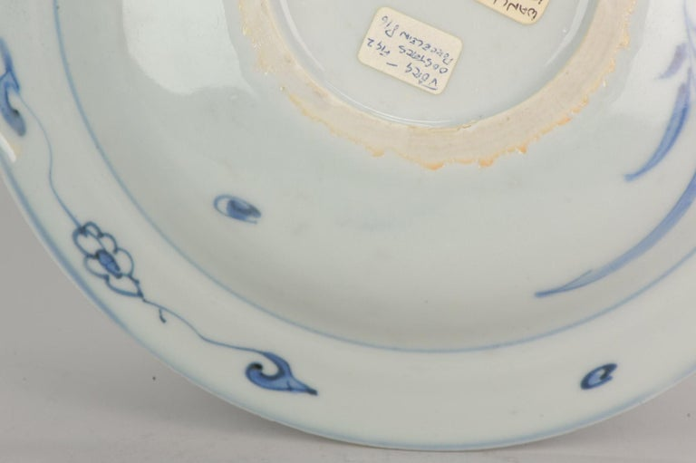 Antique Chinese Porcelain Plate 17th Century Ming Dynasty Wanli Period For Sale 5