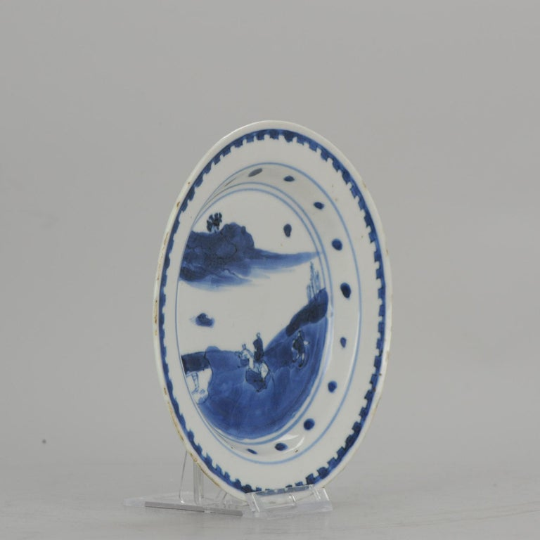 Antique Chinese Porcelain Plate 17th century Ming Dynasty Tianqi/Chongzhen For Sale 6