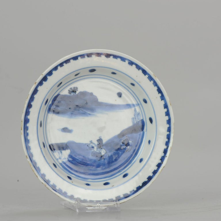 Antique Chinese Porcelain Plate 17th century Ming Dynasty Tianqi/Chongzhen For Sale 8