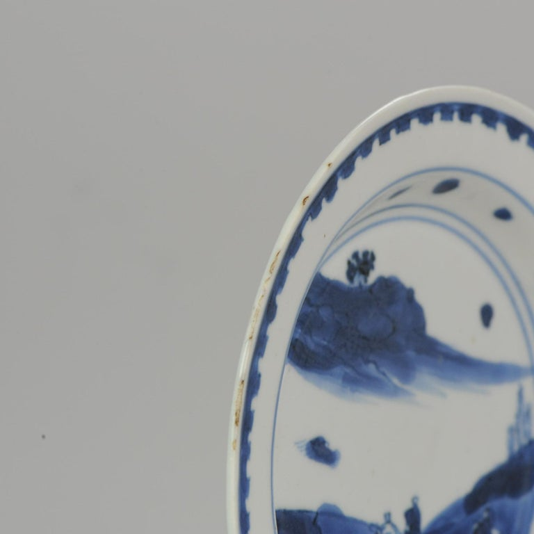 Antique Chinese Porcelain Plate 17th century Ming Dynasty Tianqi/Chongzhen For Sale 9