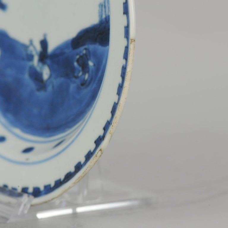 Antique Chinese Porcelain Plate 17th century Ming Dynasty Tianqi/Chongzhen For Sale 10