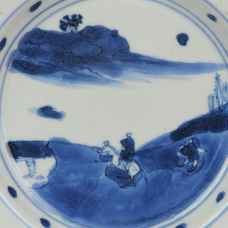 Antique Chinese Porcelain Plate 17th century Ming Dynasty Tianqi/Chongzhen For Sale 11