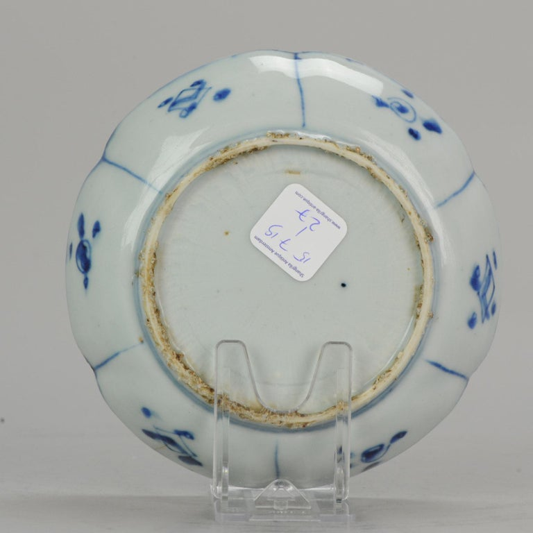 18th Century and Earlier Antique Chinese Porcelain Plate 17th Century Ming Dynasty Wanli / Tianqi For Sale