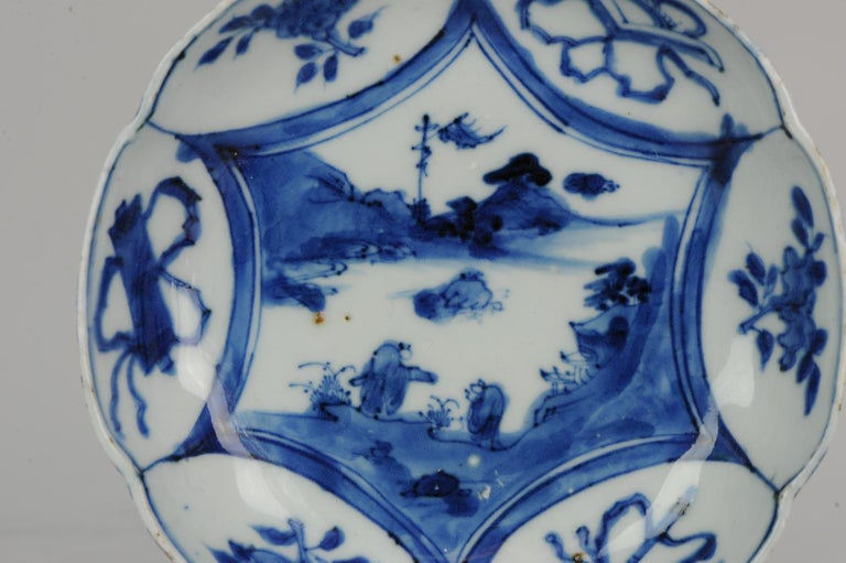 Antique Chinese Porcelain Plate 17th Century Ming Dynasty Wanli / Tianqi For Sale 1