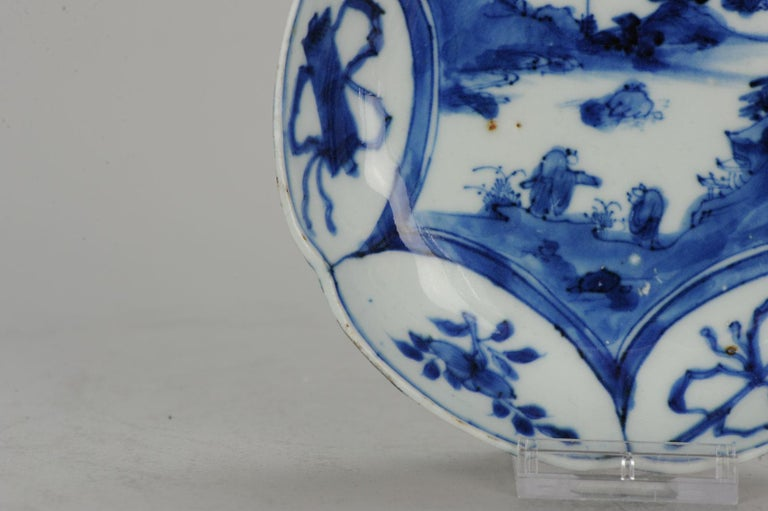 Antique Chinese Porcelain Plate 17th Century Ming Dynasty Wanli / Tianqi For Sale 2