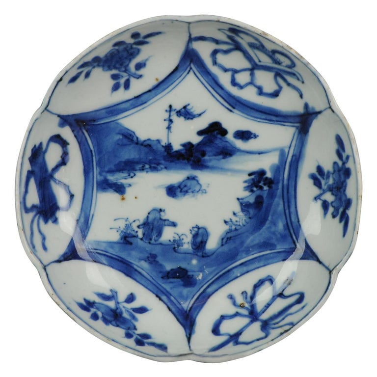 Antique Chinese Porcelain Plate 17th Century Ming Dynasty Wanli / Tianqi For Sale