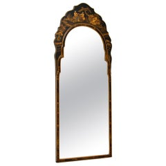 Antique Chinese Queen Anne Style Chinoiserie Mirror
