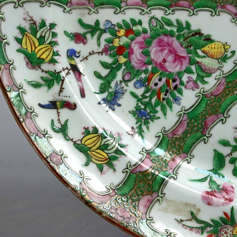 Chinese Rose Medallion Enamel and Gilt Decorated Porcelain Platter, circa 1890 For Sale 1