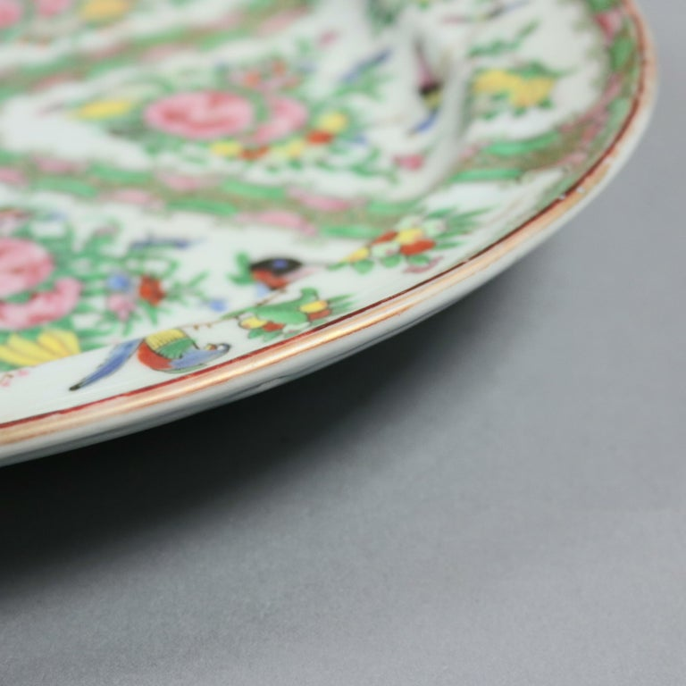 Chinese Rose Medallion Enamel and Gilt Decorated Porcelain Platter, circa 1890 For Sale 2