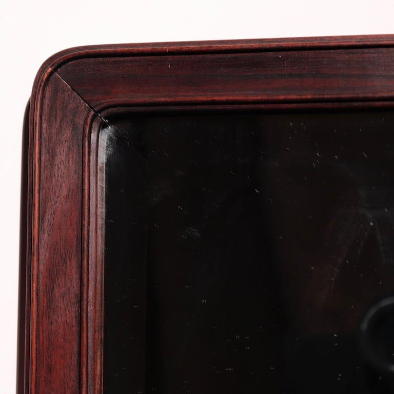 Qing Antique Chinese Rosewood Frame with Mirror For Sale