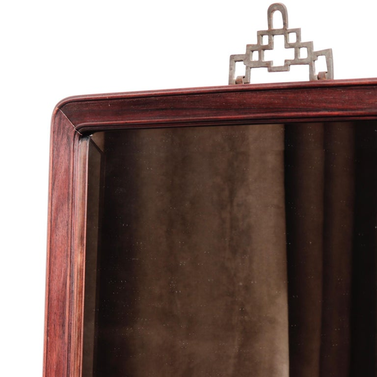 19th Century Antique Chinese Rosewood Frame with Mirror For Sale