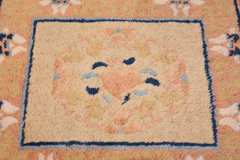 Chinese Chippendale Antique Chinese Rug. Size: 1 ft 9 in x 2 ft (0.53 m x 0.61 m) For Sale