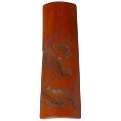 Antique Chinese Scholar's Bamboo Wrist Rest