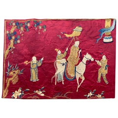Antique Chinese Silk and Metal Embroidery