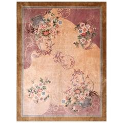 Antique Chinese Silk Rug