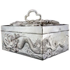 Antique Chinese Silver Cigar Box