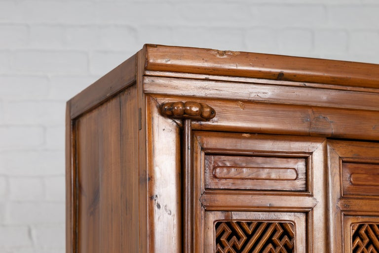Antique Chinese Slender Kitchen Cabinet with Doors ...
