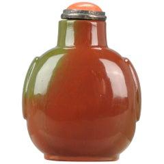 Antique Chinese Snuff Bottle Jasper Gemstone Qing Dynasty 18th-19th Century
