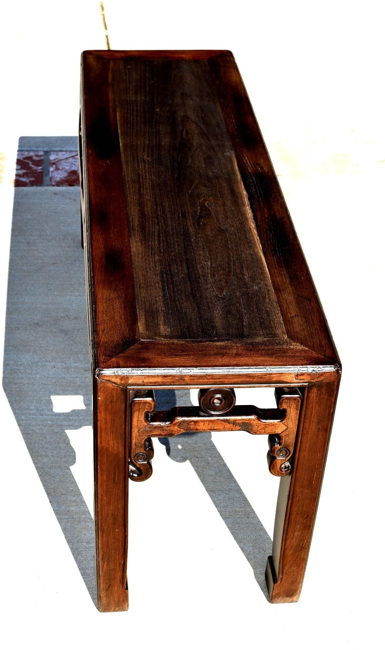 Antique Chinese Spring Bench Solid Wood At 1stdibs