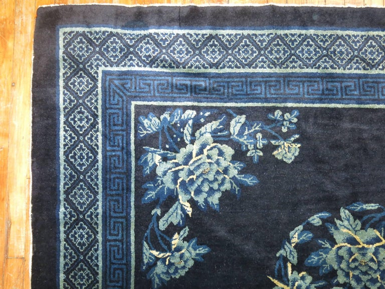 Antique Chinese Square Peking Rug For Sale 3