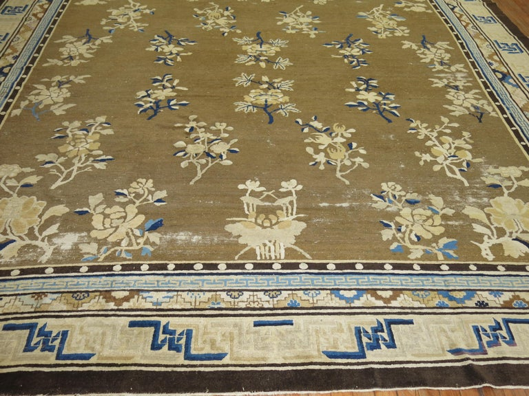 Antique Chinese Square Peking Rug For Sale 5