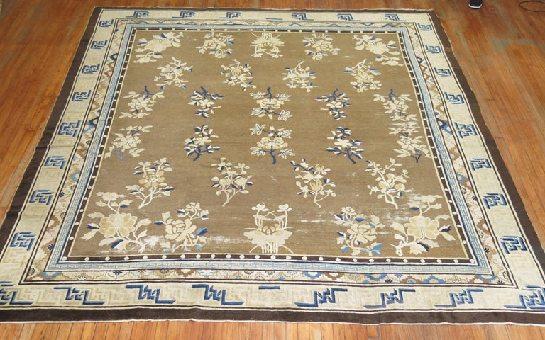 Antique Chinese Square Peking Rug For Sale 7