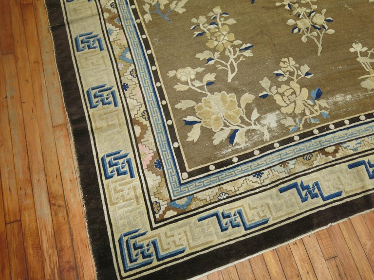 Antique Chinese Square Peking Rug For Sale 8