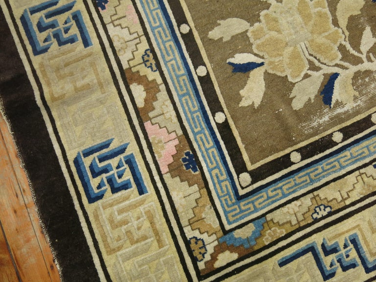 Antique Chinese Square Peking Rug For Sale 1