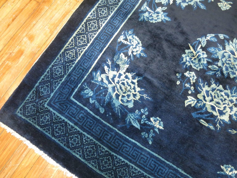 Antique Chinese Square Peking Rug For Sale 2