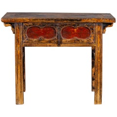 Antique Chinese Table with Drawer Kuang Hsu Period, China, circa 1875