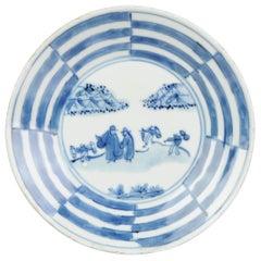 Antique Chinese Taste Kosometsuke Tianqi/Chongzhen Dish Porcelain Mi