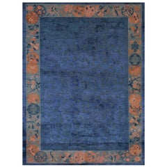 Antique Chinese Wool and Silk Rug