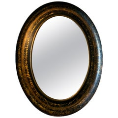 Antique Chinoiserie Oval Mirror
