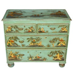 Antique Chinoiserie Painted Chest with Gilt Detail