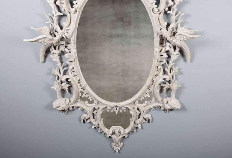 Antique Chippendale Period Mirror In Good Condition For Sale In Tyrone, Northern Ireland