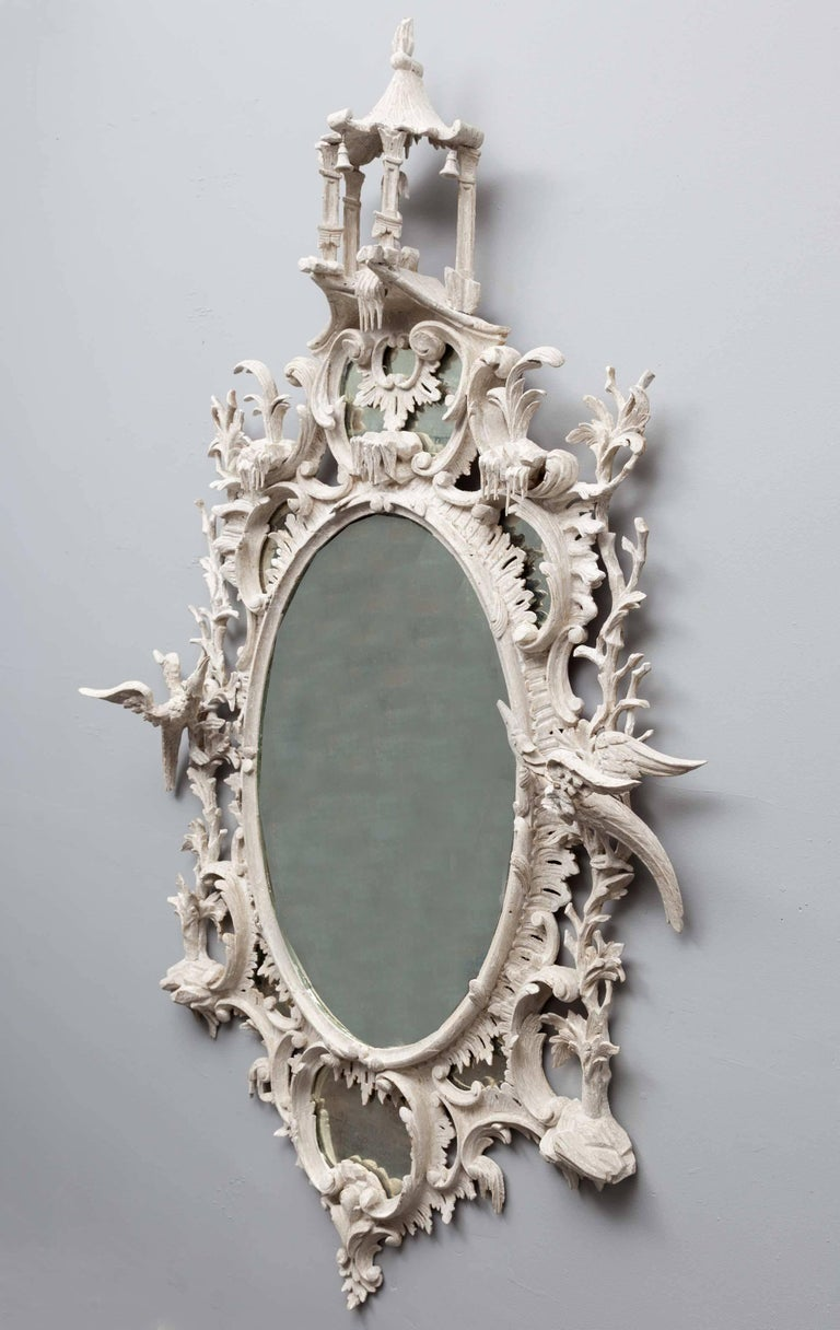 18th Century Antique Chippendale Period Mirror For Sale