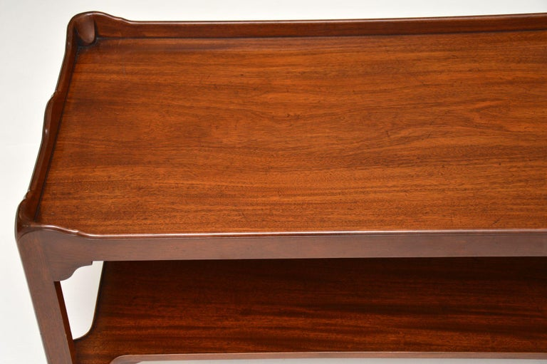 Antique Chippendale Style Mahogany Coffee Table 1