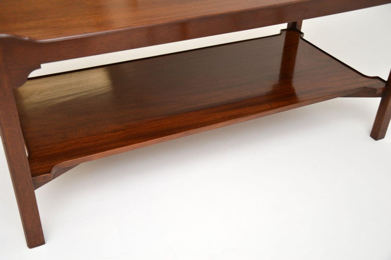 Antique Chippendale Style Mahogany Coffee Table 2