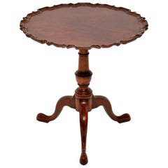 Antique Chippendale Style Mahogany Tilt-Top Table