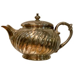 Antique Christofle Silver-Plate Breakfast Teapot, 1850-1900 France