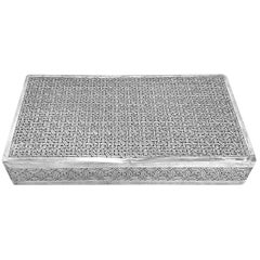 Antique Cigarette Box Rectangle In Silver