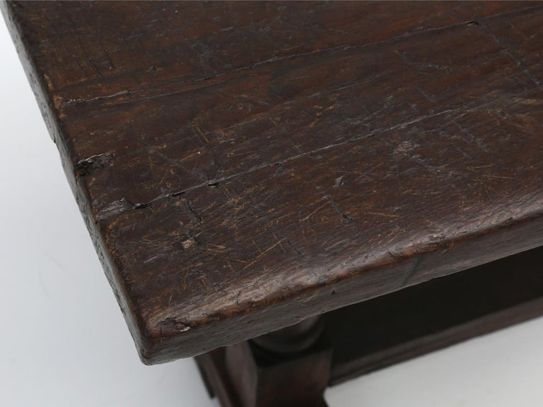 French Antique circa 1690-1730 Desk, Kitchen Table or Sofa Table For Sale