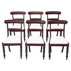 Antique circa 1850 Set of 6 Victorian Mahogany Dining Chairs
