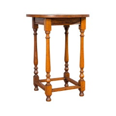 Circular Occasional Table, English, Oak, Side, Lamp, Edwardian, circa 1910