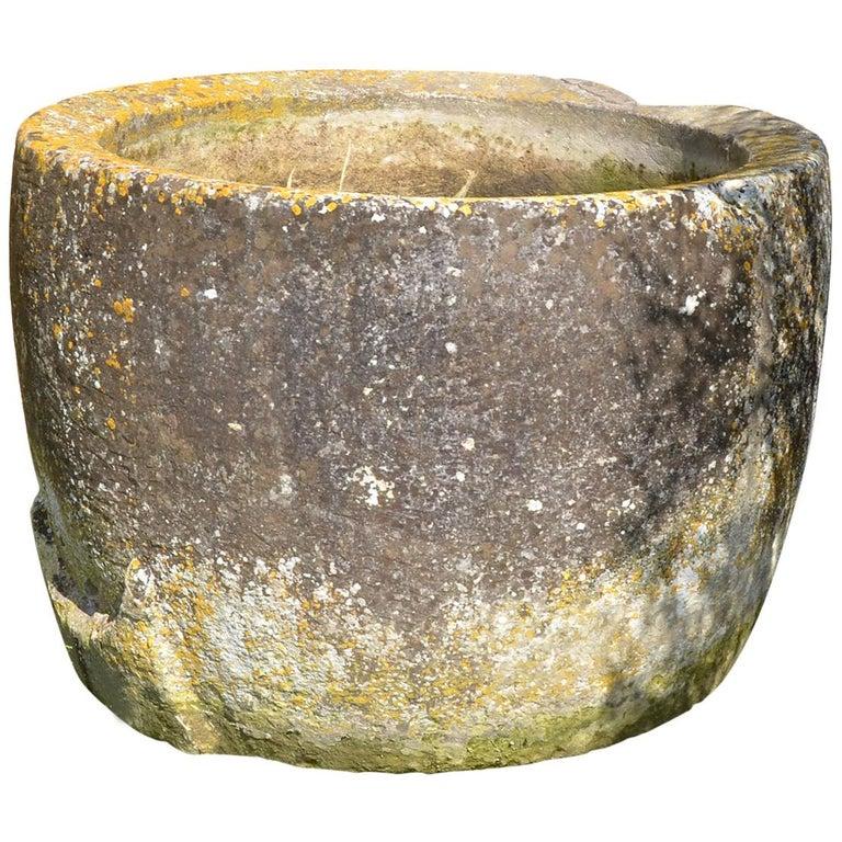 Antique Circular Stone Trough For Sale